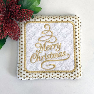 How to make Free Merry Christmas Coaster