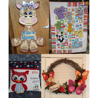 13 Ways 2 use Large Applique Animals
