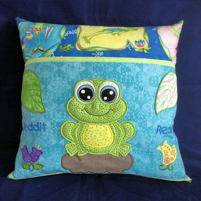 Frog Reading Pillow