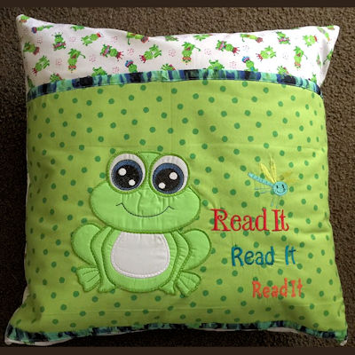 Cute Frog Reading Pllow