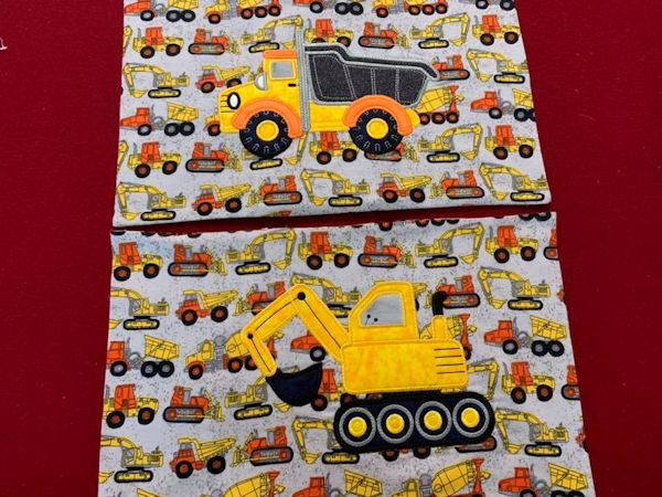 Applique Truck Pillowcases by Mary
