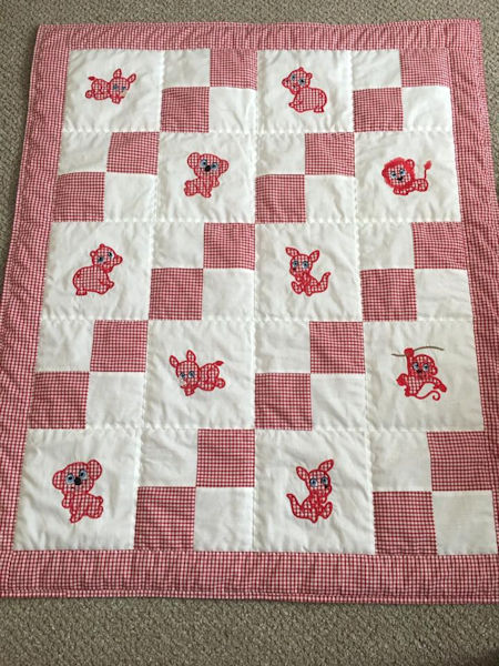 Barbara Free Zoo Applique Quilt 0708