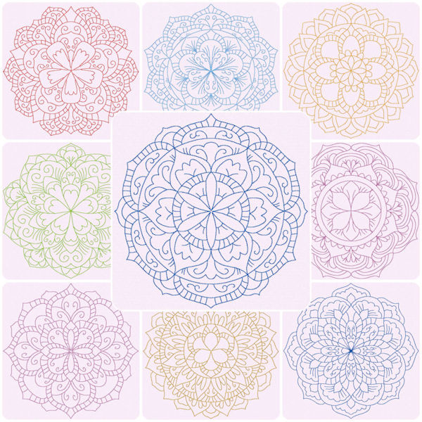 Mandala Embroidery Designs