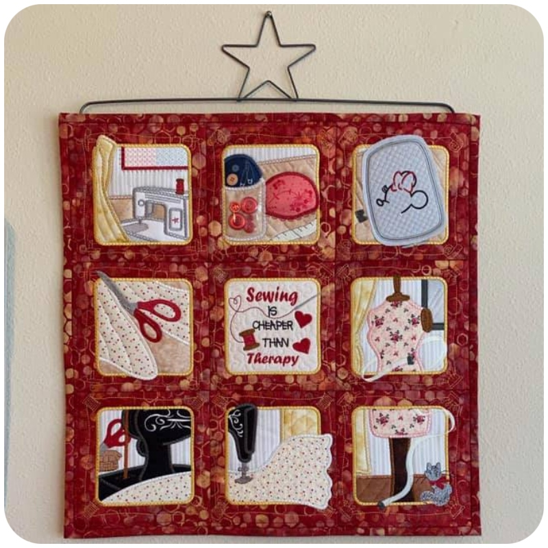 Beverly - Sewing Wall Hanging