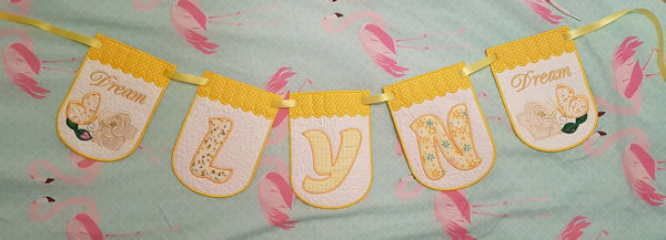 In the hoop Bunting by Tanya