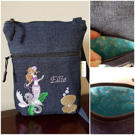 Cathys Mermaid Messenger Bag