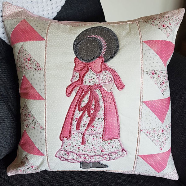 Large Sunbonnet Cushion by Cathy