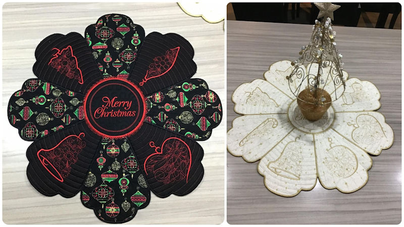Christmas Delight Placemats by Darina