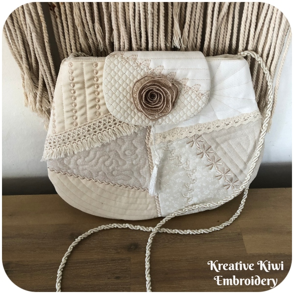 Crazy Patch Evening Bag by Kreative Kiwi