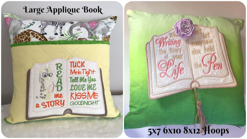 Cushion Samples using Large Applique Book