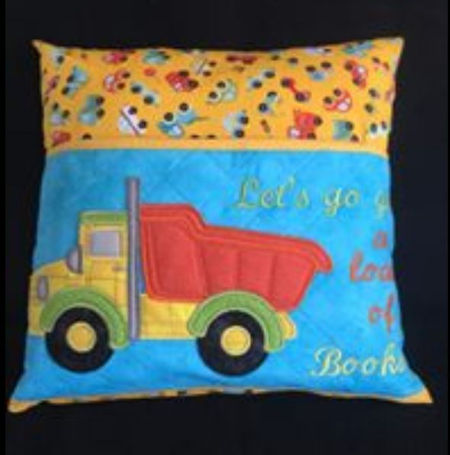 Applique Truck Reading Pillow by Darina