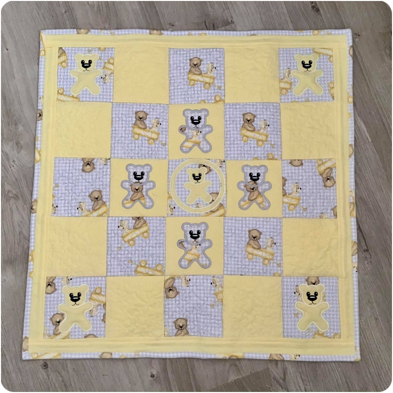 Darina - Yellow and Grey Teddy Quilt
