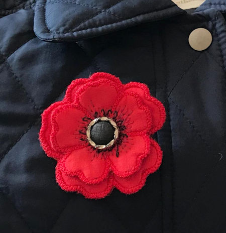 Free In the hoop Poppy Broach