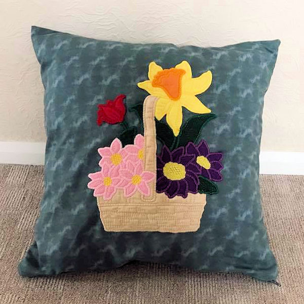 Flower Applique Cushion
