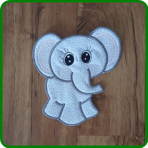 Large Elephant Applique by Kreative Kiwi