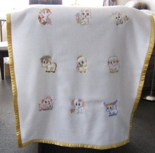 Embroidered Fleece Quilt