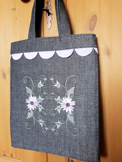 Floral Combo Tote Bag