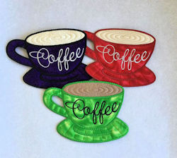 Free In the hoop Coffee Cup Coaster
