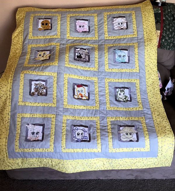Farm Animal Quilt by Jan