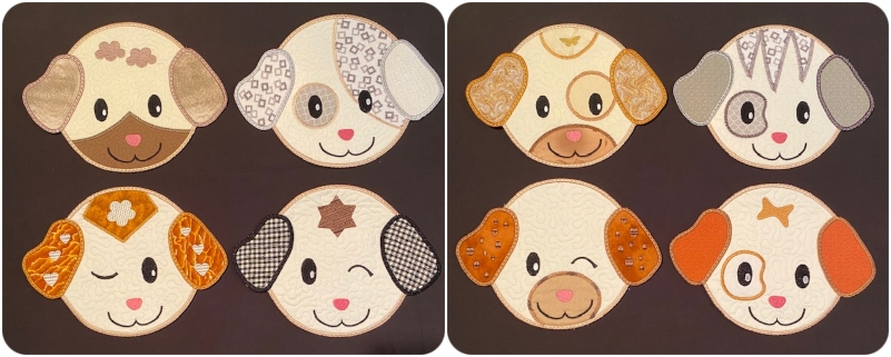 Fayes Threads In the hoop Puppy Coasters