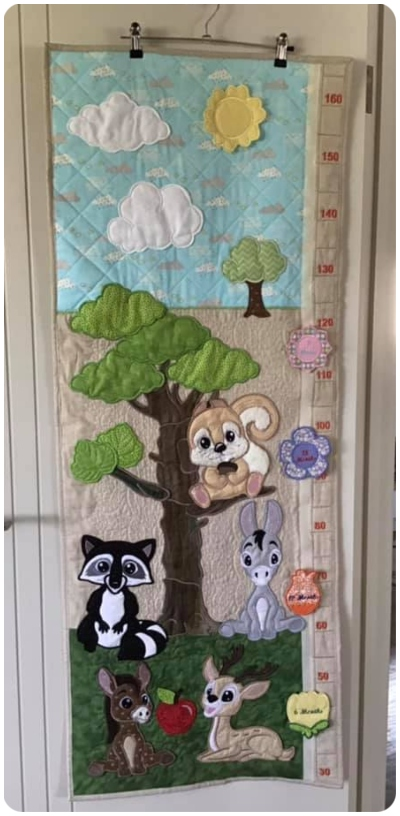 Forest Friends Growth chart by Darina