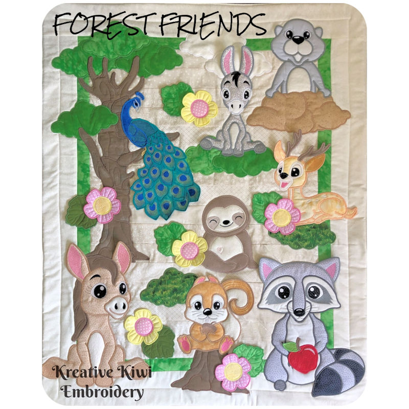 Forest Friends Quilt by Kreative Kiwi - 800