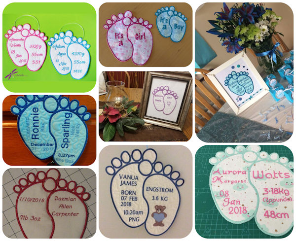 Free Baby Feet Applique Samples