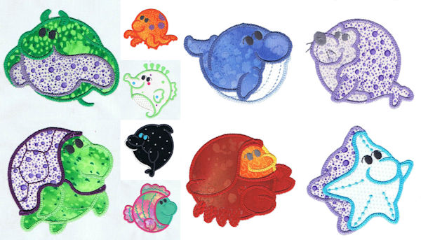 Free Sea Animals Applique