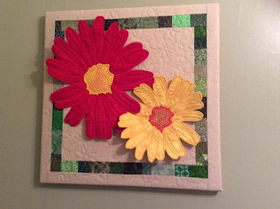 Wall Hanging made with Free Large Applique Flower