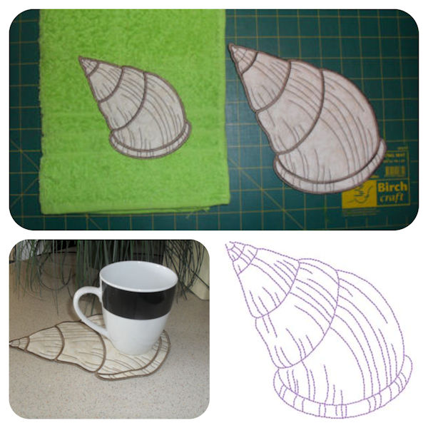 Free Seashell Applique