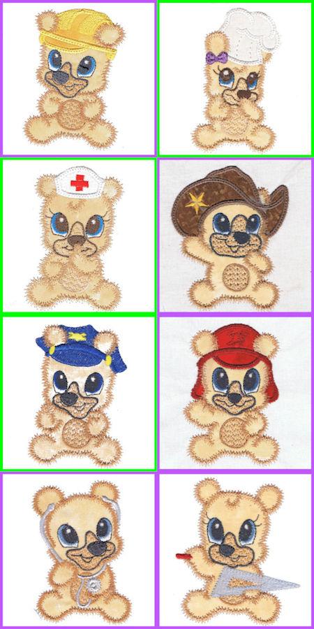 Free Teddy Bear Applique Designs
