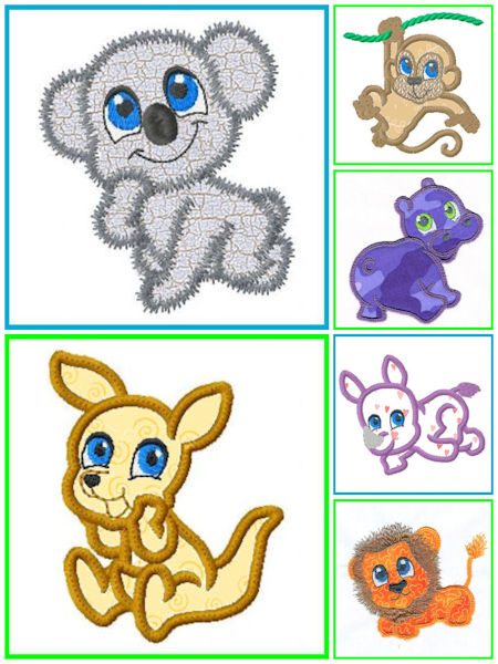 Free Zoo Applique Designs 0708