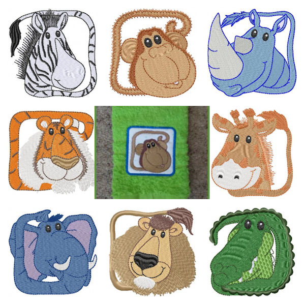 Free Machine Embroidery Zoo Animals