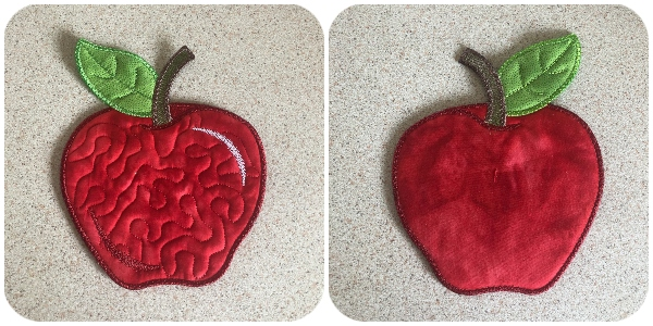 Free Apple Coaster Front and Back