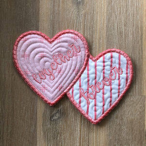 Free Double Heart Coaster Front