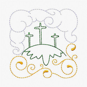Free Easter Redwork Embroidery Design 01