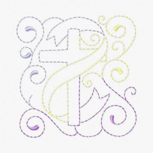 Free Easter Redwork Embroidery Design 02