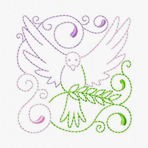 Free Easter Redwork Embroidery Design 03