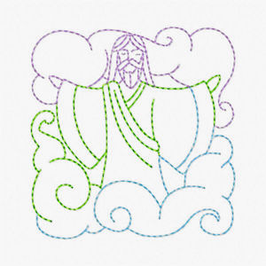 Free Easter Redwork Embroidery Design 04