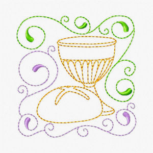 Free Easter Redwork Embroidery Design 05