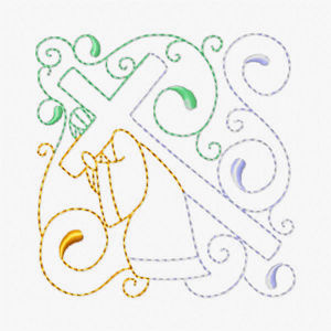 Free Easter Redwork Embroidery Design 06