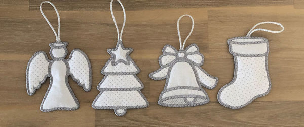 Free In the hoop Christmas Ornaments by Kreative Kiwi