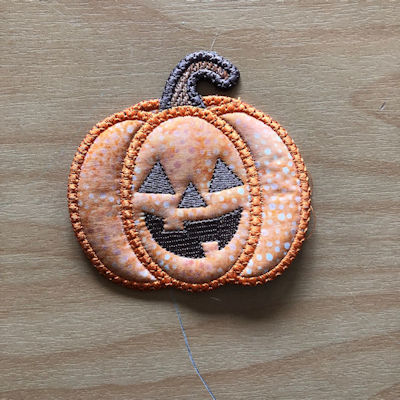 Free Pumpkin Coaster-4x4 hoop by Kreative Kiwi