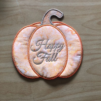 Free Pumpkin Coaster-Happy Fall Front