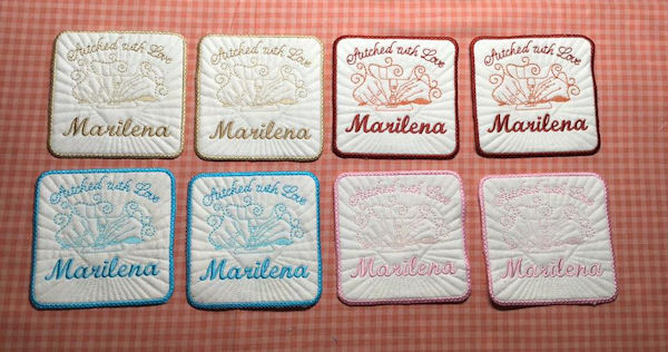 Free Quilt Label stitched by Darina