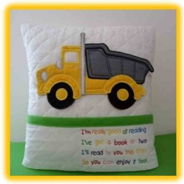 Truck Reading Pillow