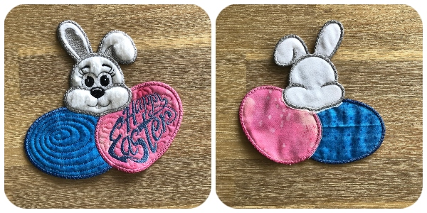 Front and Back of Peeking Bunny