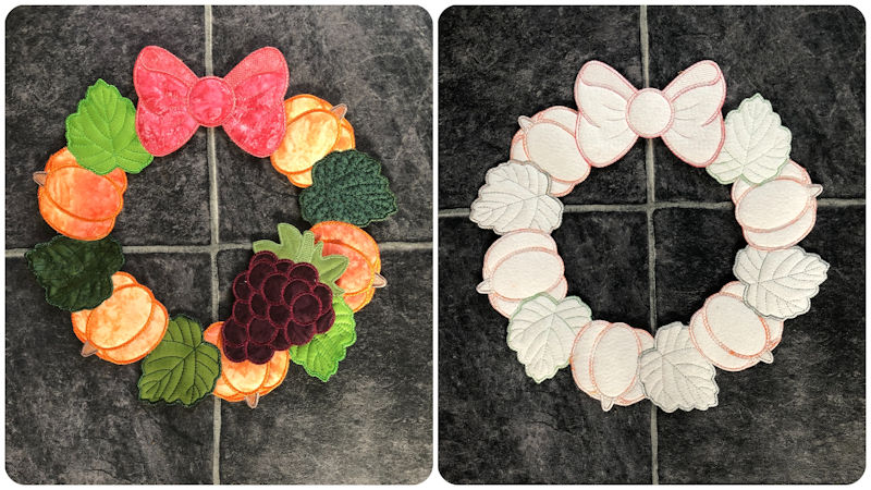 Front and back Fall Wreath - 800