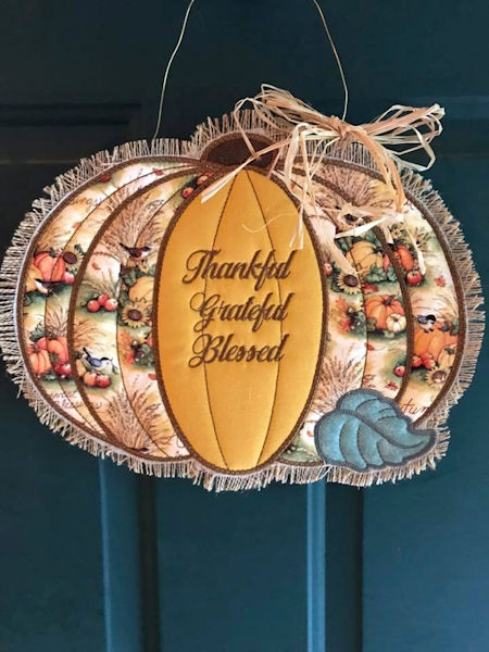Rustic Large Pumpkin Applique