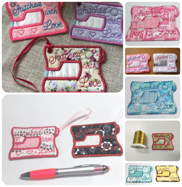 Free In the hoop Gift Tag Samples by KK Group